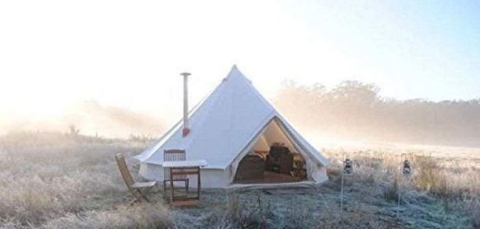 Best 8 Person Tents - DANCHEL Cotton Bell Tent