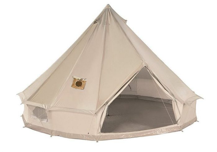 Best Bell Tent - DANCHEL Cotton Bell Tent with Two Stove Jackets