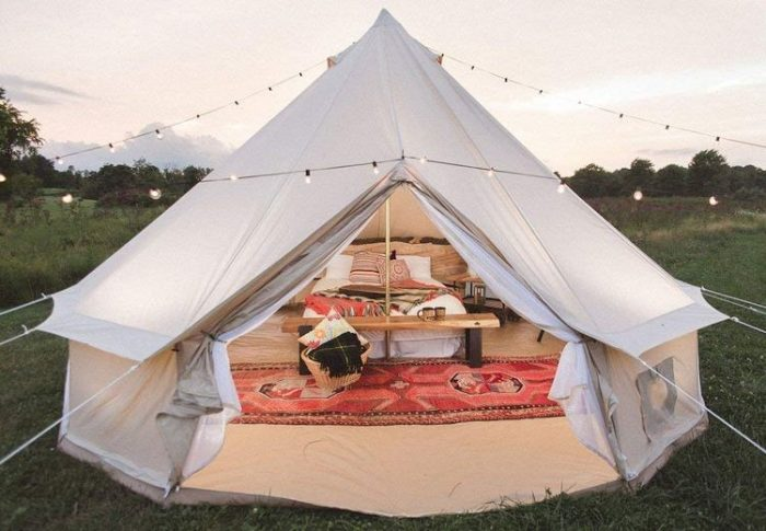 Best Bell Tent - Dream House Luxury Four Season Family Camping and Winter Glamping Cotton Canvas Yurt Bell Tent