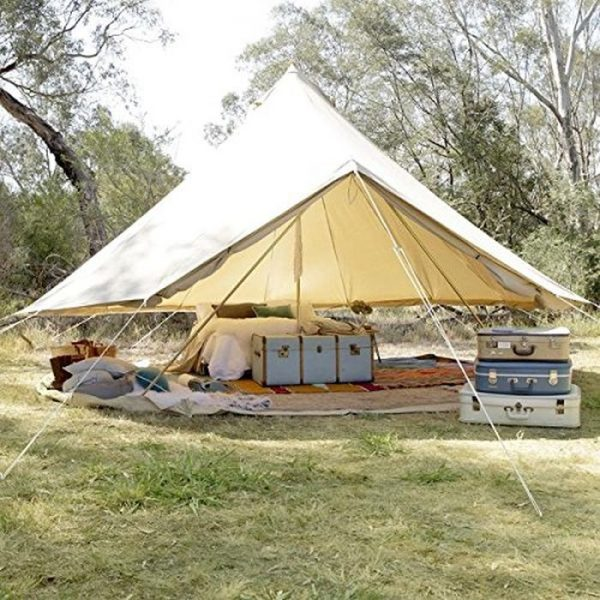 Best Bell Tent - Psyclone Tents Luxury All Weather 8-10 Person Cotton Canvas Yurt Tent House