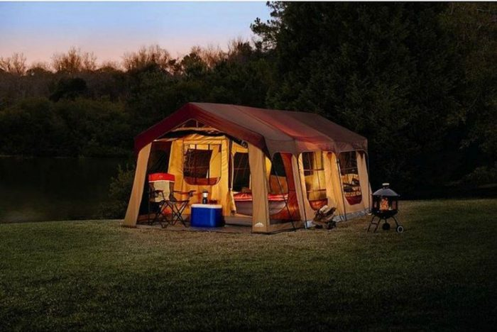 Best Camping Tents With Screened Porch - Large 10 Person Family Cabin Tent