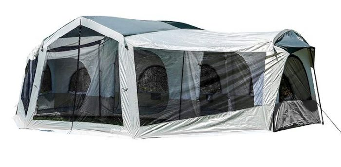Best Camping Tents With Screened Porch - Tahoe Gear Carson 3 Season 14 Person Large Family Cabin