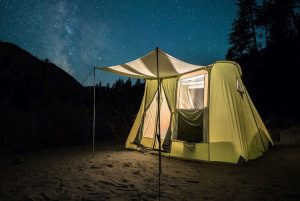Kodiak Canvas 1-Person Canvas Swag Tent with Sleeping Pad