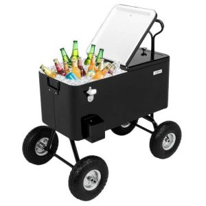 VINGLI 80 Quart Wagon Rolling Cooler