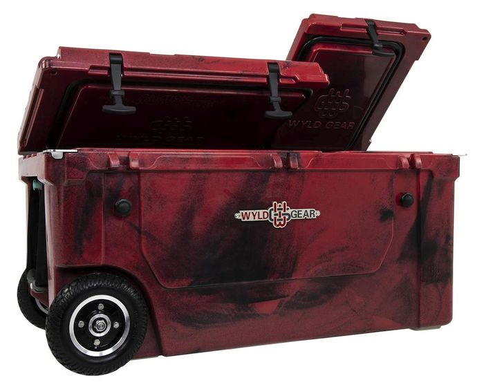 WYLD 75 Quart Dual Compartment Cooler with Wheels