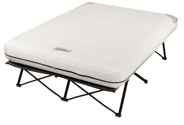 Coleman Queen Size Camping Cot with Air Mattress And Pump