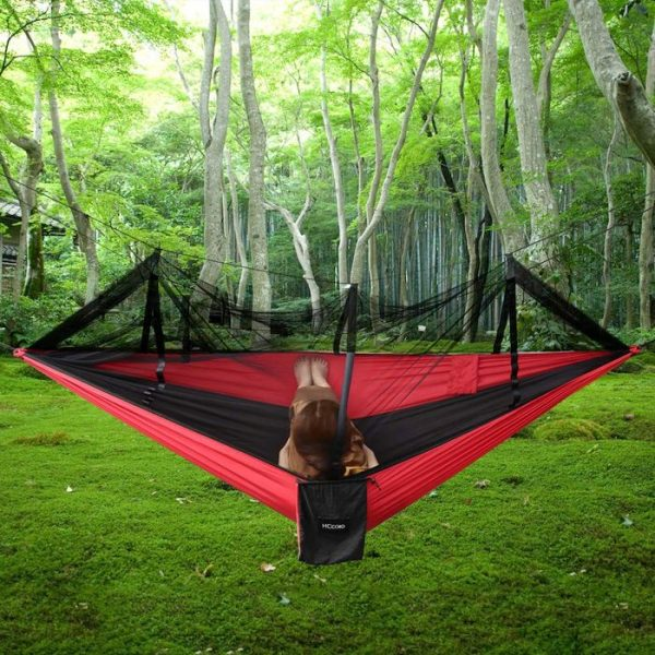 HCcolo Double Camping Hammock with Mosquito Net