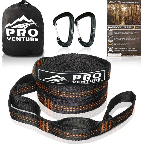 Pro Venture Hammock Tree Straps With Carabiners