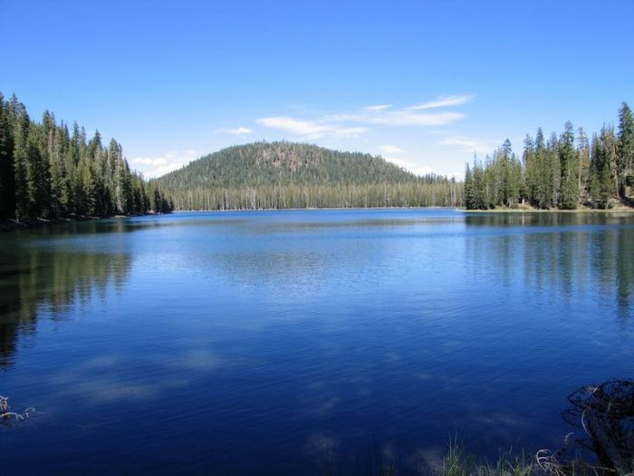 Upper Twin Lake At Lassen Volcanic National Park