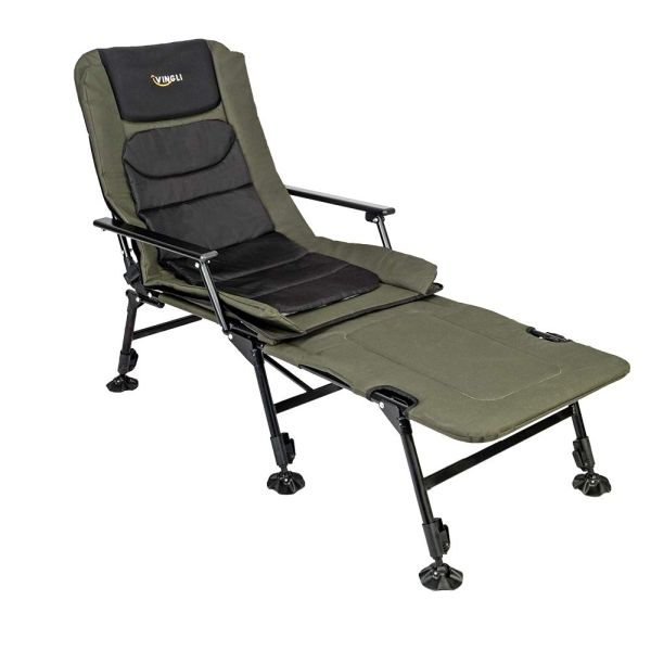 VINGLI Folding Fishing Chair Plus Foot Rest Attachment