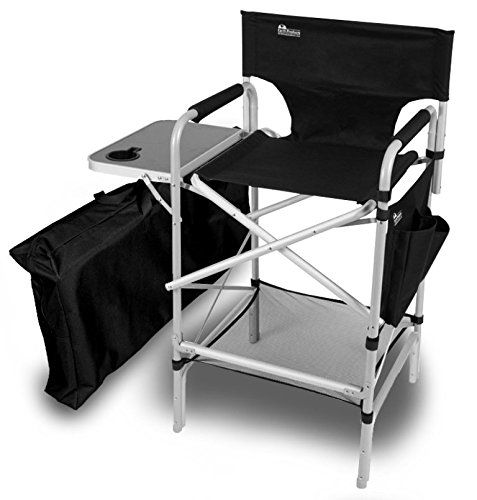 Earth Executive VIP Tall Directors Chair Side Table and Carry Bag