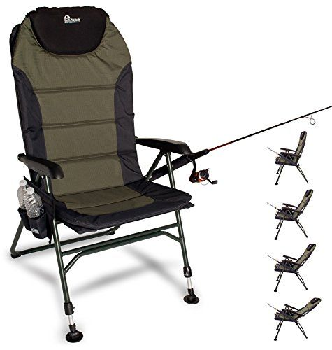 Earth Products Ultimate Outdoor Adjustable Fishing Chair with Adjustable Legs