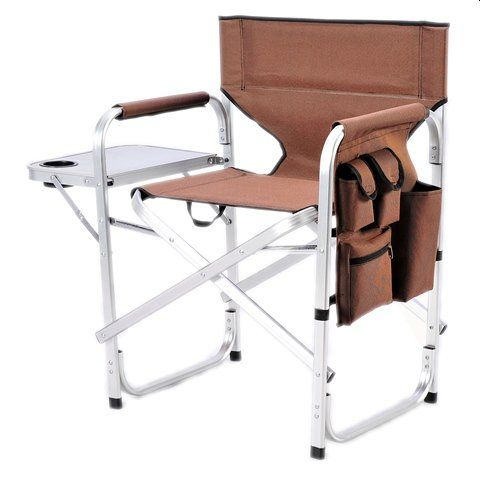Stylish Camping Full Back Folding Directors Chair