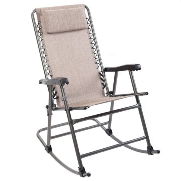 Timber Ridge Smooth Glide Lightweight Padded Folding Rocking Chair