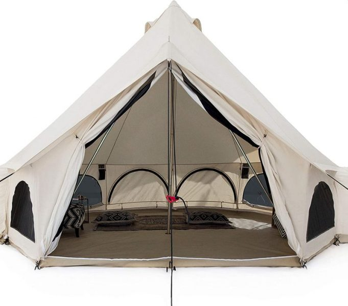 White Duck Outdoors Premium Luxury Avalon Canvas Bell Tent with Stove Jack