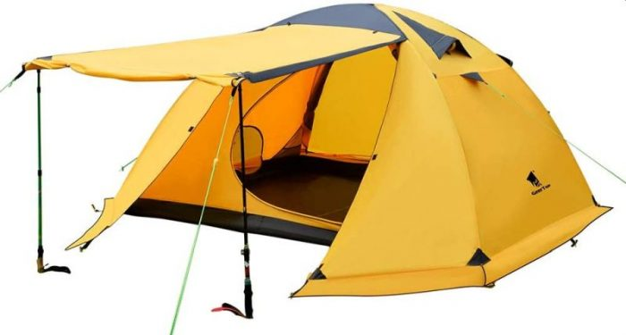 Geertop Portable 4 Person 4 Seasons Backpacking Tent