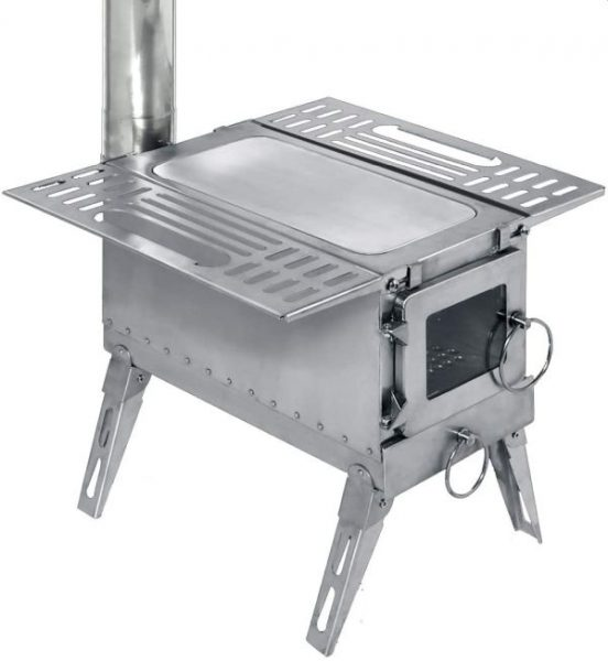 DANCHEL Outdoor Tent Wood Stove with Pipe