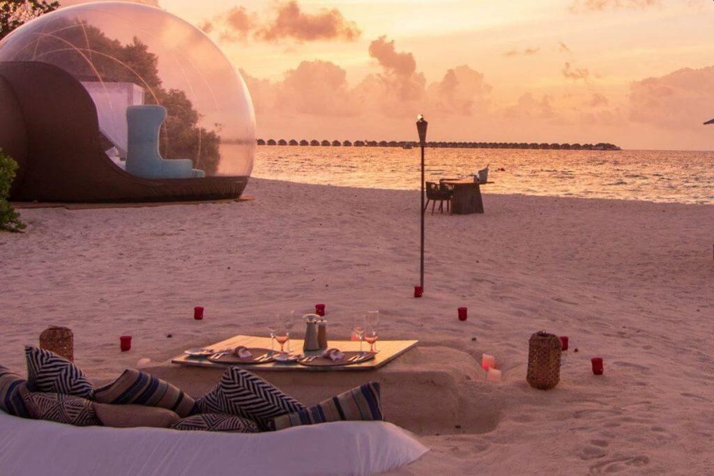 Finolhu Beach Bubble Tent
