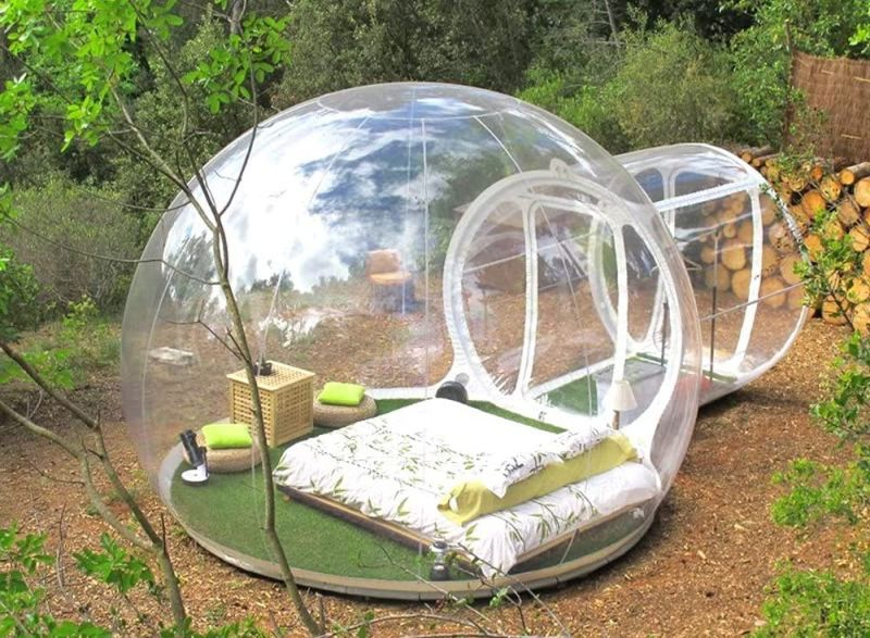 HHAiNi Transparent Single Tunnel Inflatable Bubble Tent