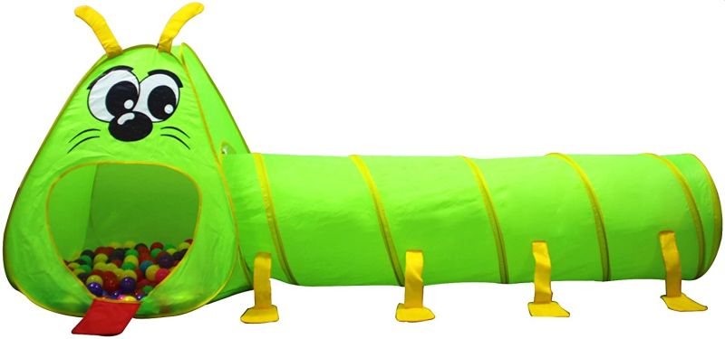 Kiddey Caterpillar Play Tunnel and Tent Combo