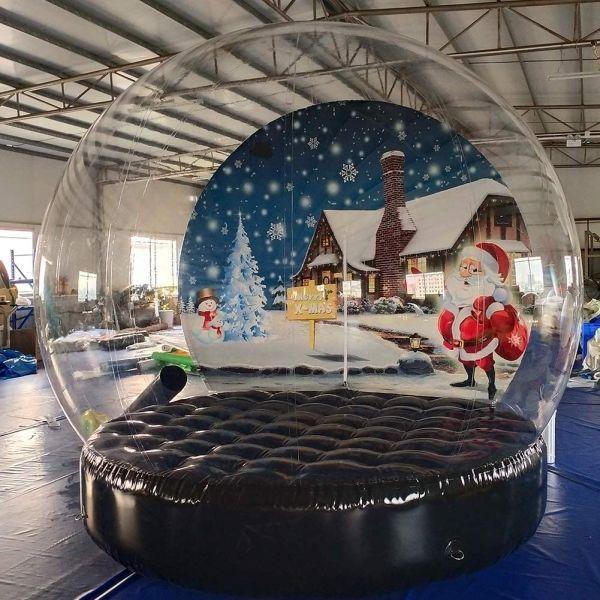 Sayok Christmas Decoration Inflatable Snow Globe Transparent Bubble Tent
