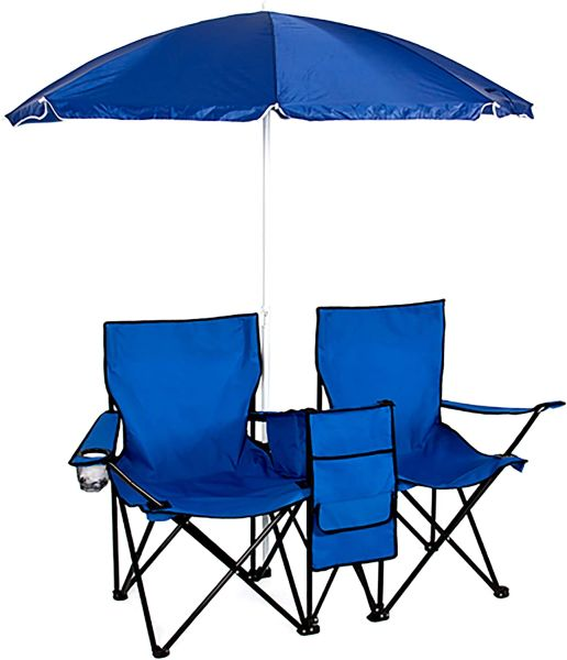 Best Choice Products Portable Folding Double-Chair Removable Umbrella