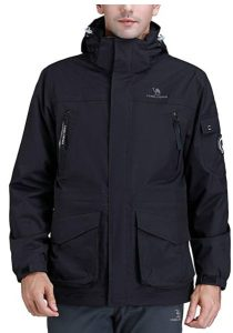 CAMEL CROWN Mens 3-in-1 Ski Jacket