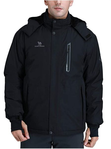 CAMEL CROWN Men's Mountain Snow Waterproof Ski Jacket