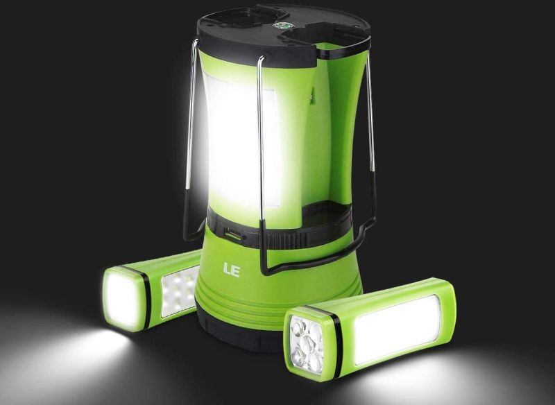 LE LED Camping Lantern Rechargeable With Detachable Flashlights