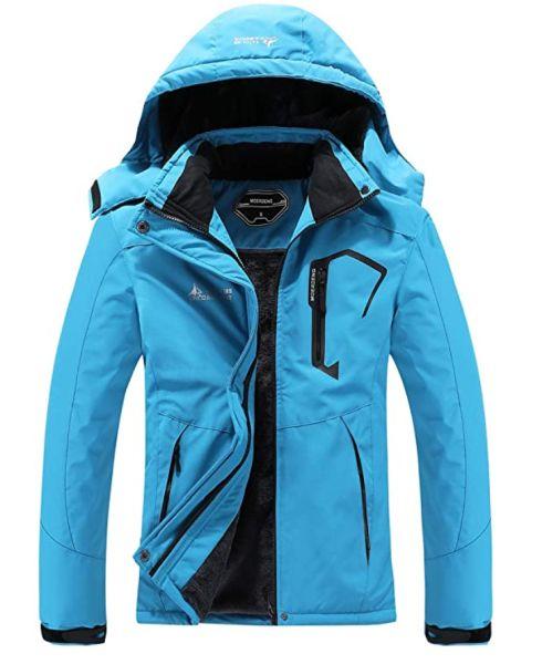 MOERDENG Women's Waterproof Ski Jacket Warm Winter Snow Coat