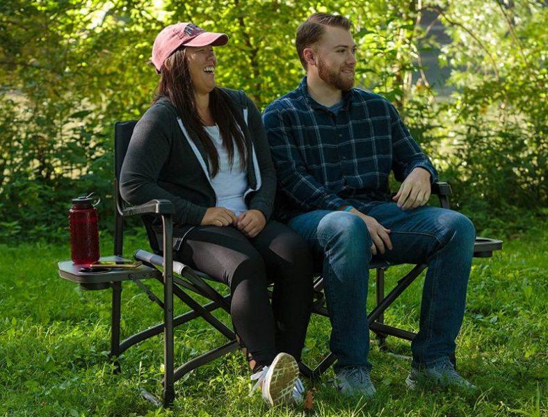 Timber Ridge Cedar 2 Person Love Seat Folding Directors Chair
