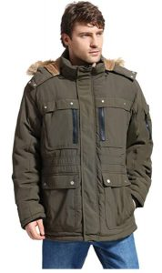 Yozai Men's Winter Jacket Military Warm Fleece Coat