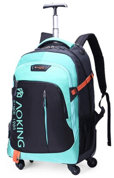 AOKING Water Resistant Rolling Wheeled Backpack