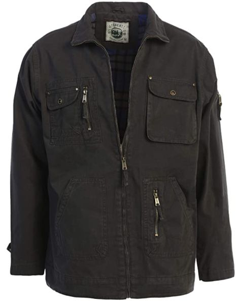 Gioberti Men's Casual Outerwear Twill Multi Pocket Cargo Shirt Jacket