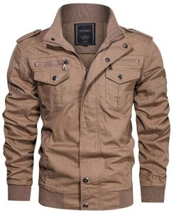 Hijewe Men's Military Style Jacket