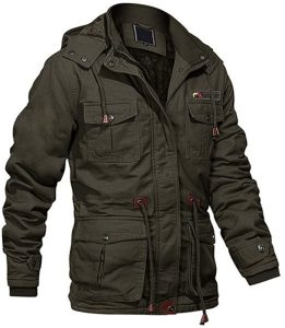 MAGCOMSEN Men's Winter Cargo Jacket with Multi Pockets